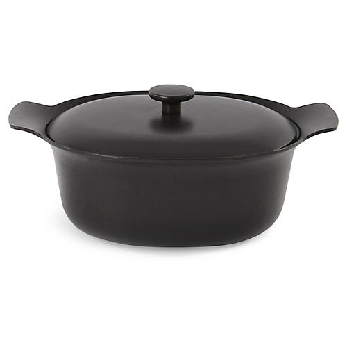 Ron Cast-Iron Casserole Dish, Black
