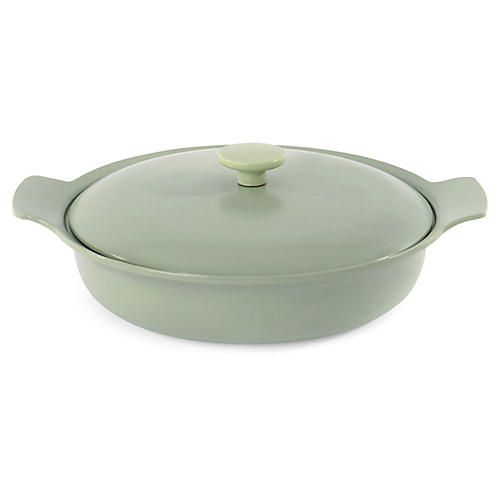 Ron Cast-Iron Skillet, Green
