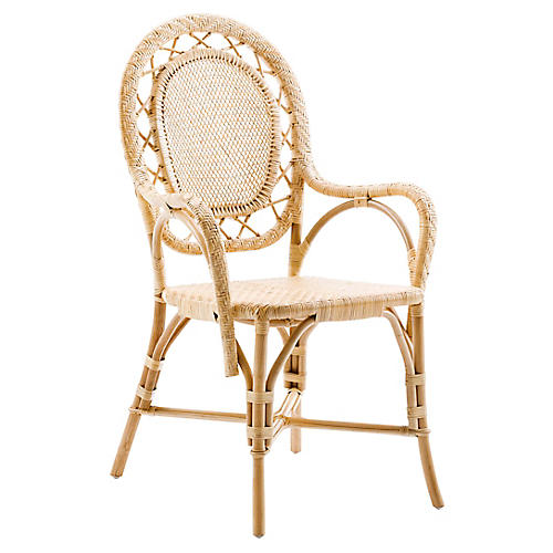 Romantica Rattan Chair, Natural