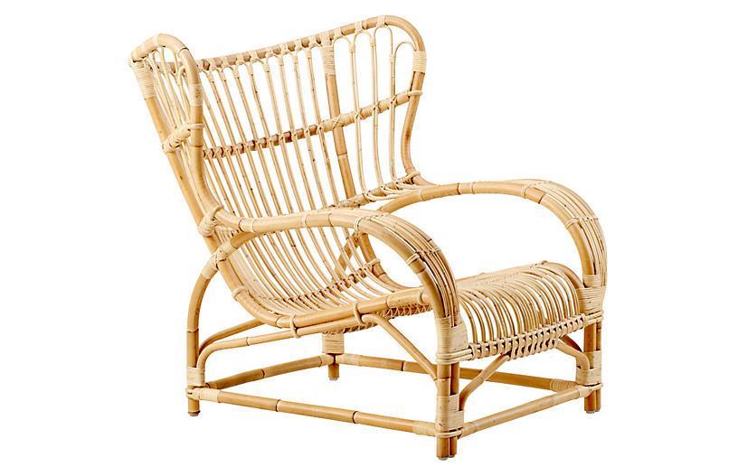 Viggo Rattan Chair, Natural