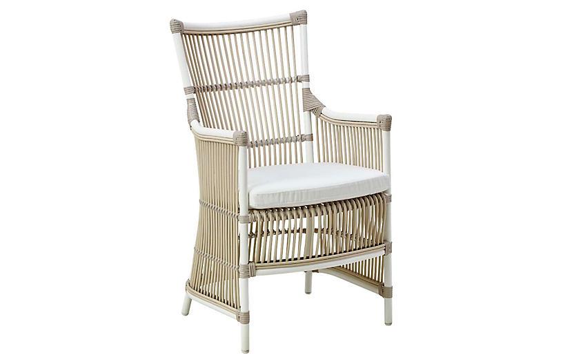 Davinci Outdoor Chair, Dove White