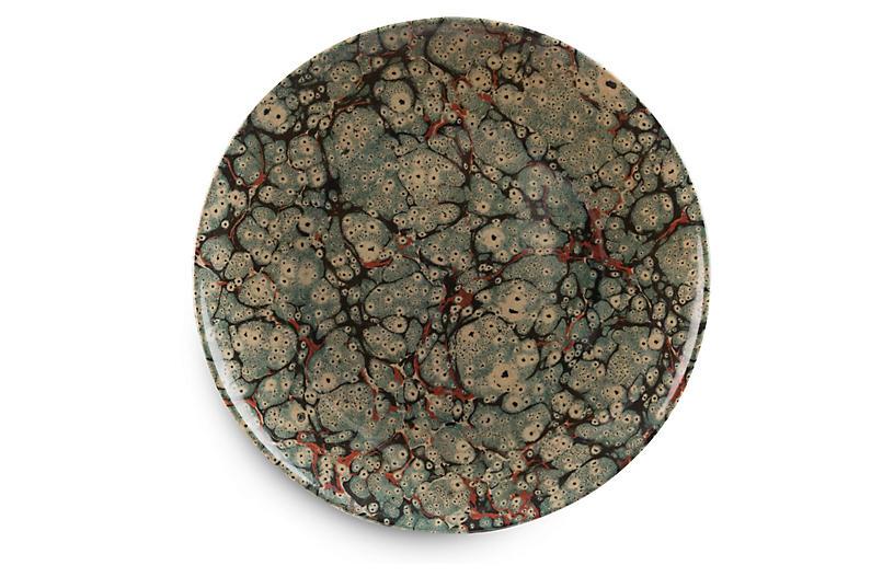 S/4 Austen Dinner Plates, Green/Multi