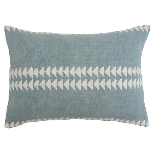 Arrow 14x20 Lumbar Pillow, Light Blue
