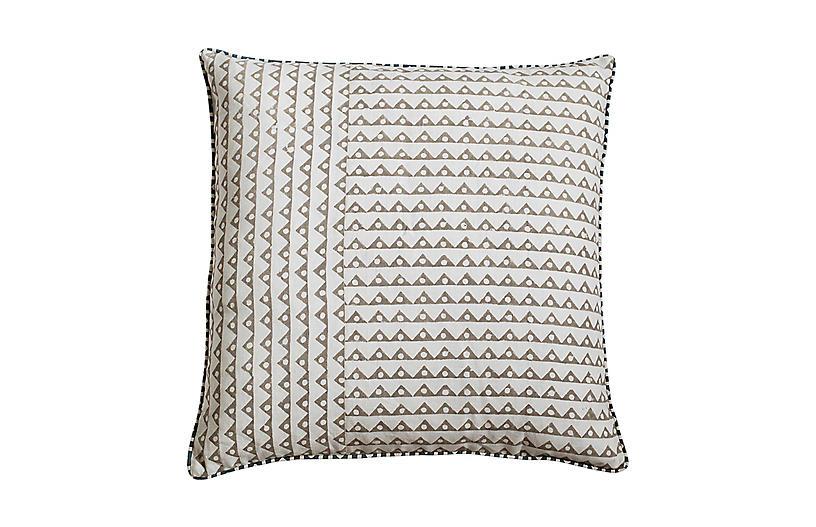 Koyota 22x22 Pillow, Ash Linen