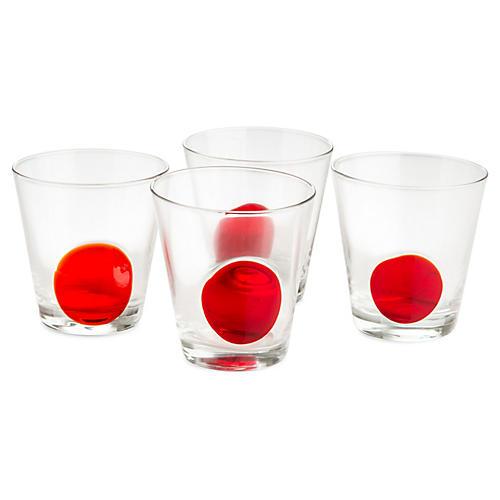 S/4 Iris DOF Glasses, Red/Clear