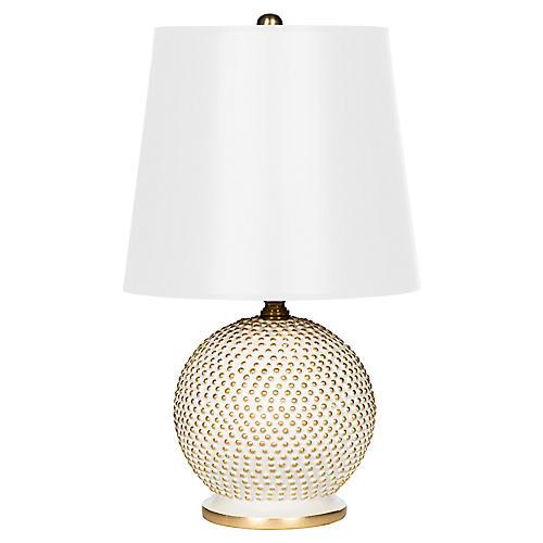 Mini Ball Table Lamp, White/Gold