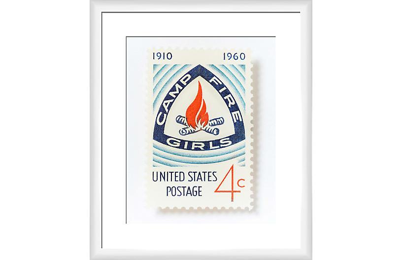 Leslee Mitchell, Campfire Girls Stamp