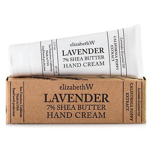 Lavender Shea Butter Hand Cream, White