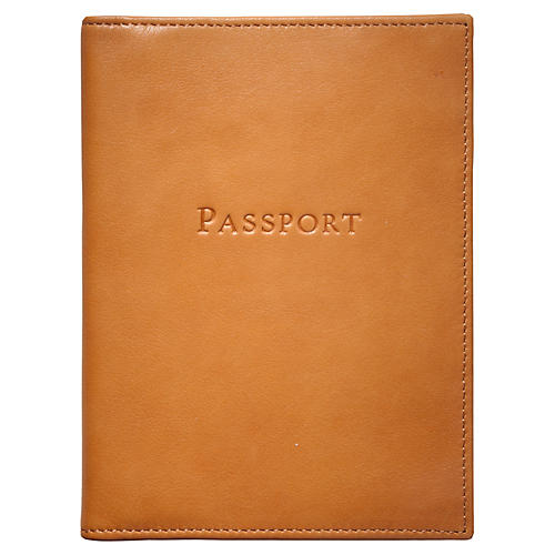 Jet Set Slim Passport Case, British Tan