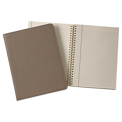 Writer's Refillable Notebook, Taupe