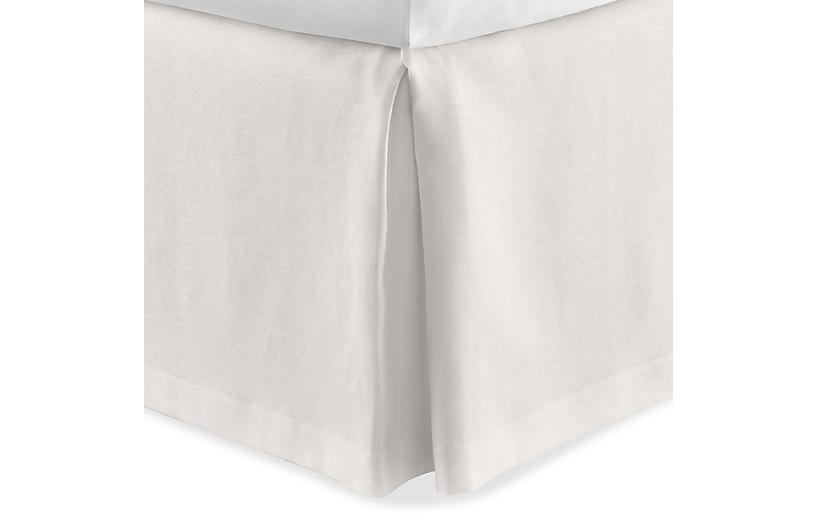 Mandalay Tailored Bed Skirt, Pearl