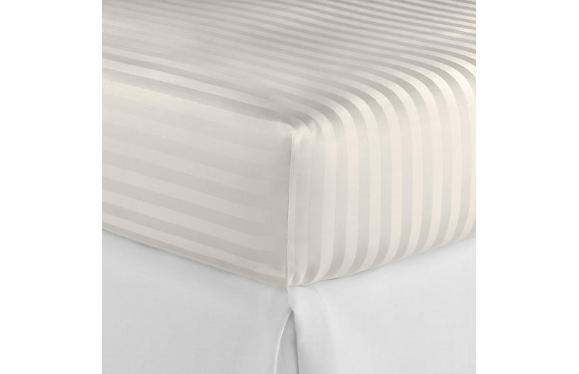 Duet Fitted Sheet, Ivory
