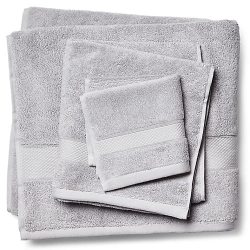 3-Pc Diamond Towels, Pewter