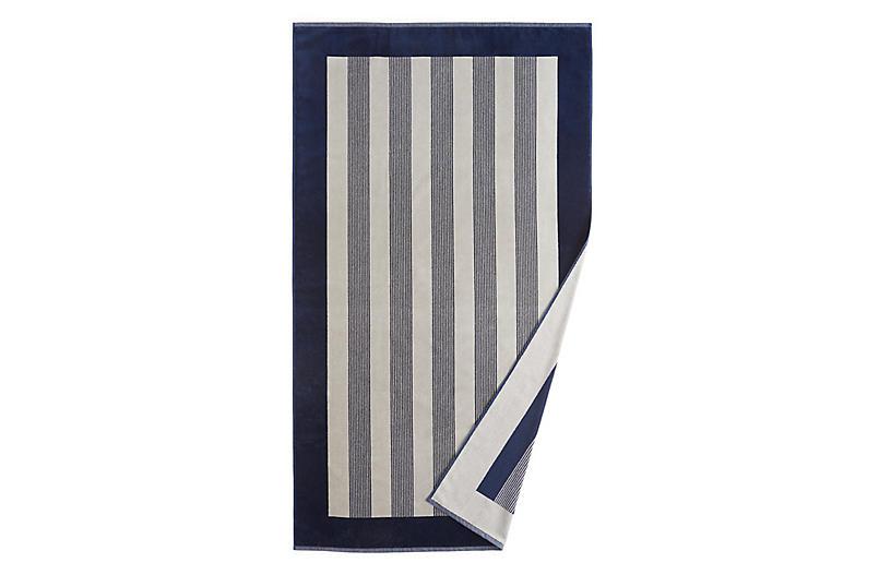 Soleil Beach Towel, Navy