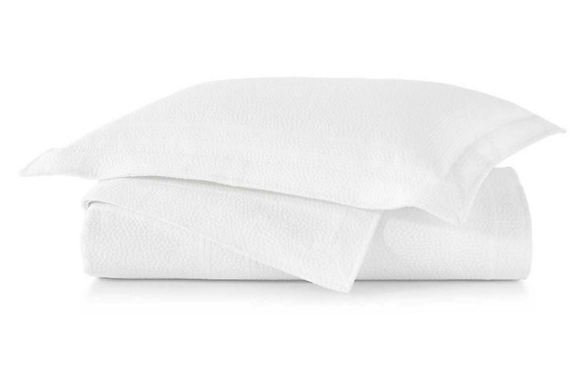 Montauk Coverlet, White