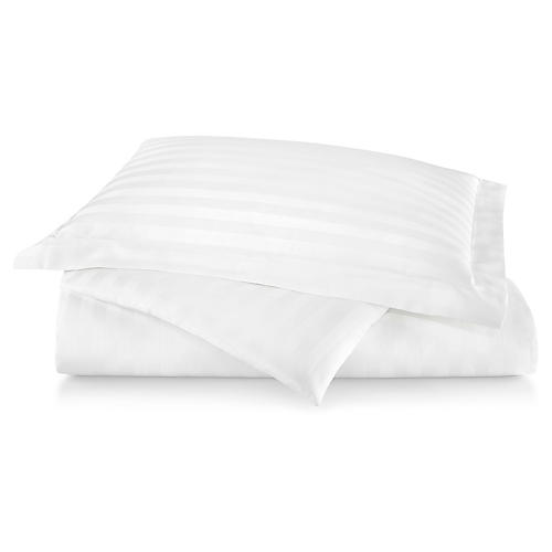 Duet Duvet Cover, White