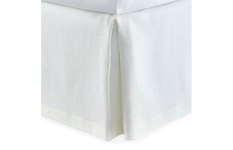 Mandalay Tailored Bed Skirt, White