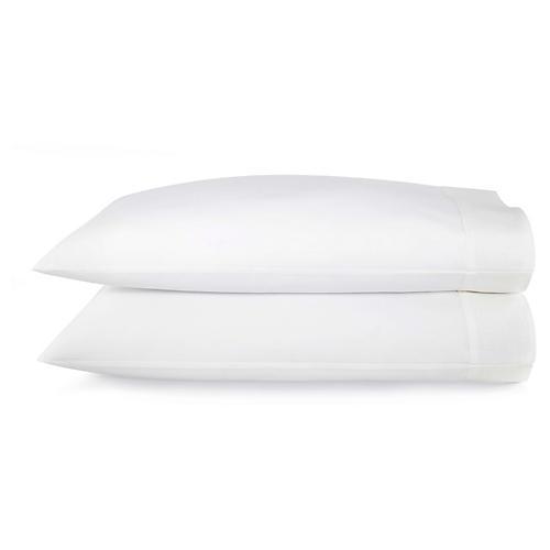 S/2 Mandalay Cuff Pillowcases, White