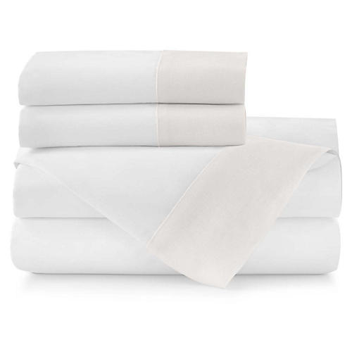 Mandalay Cuff Sheet Set, Pearl