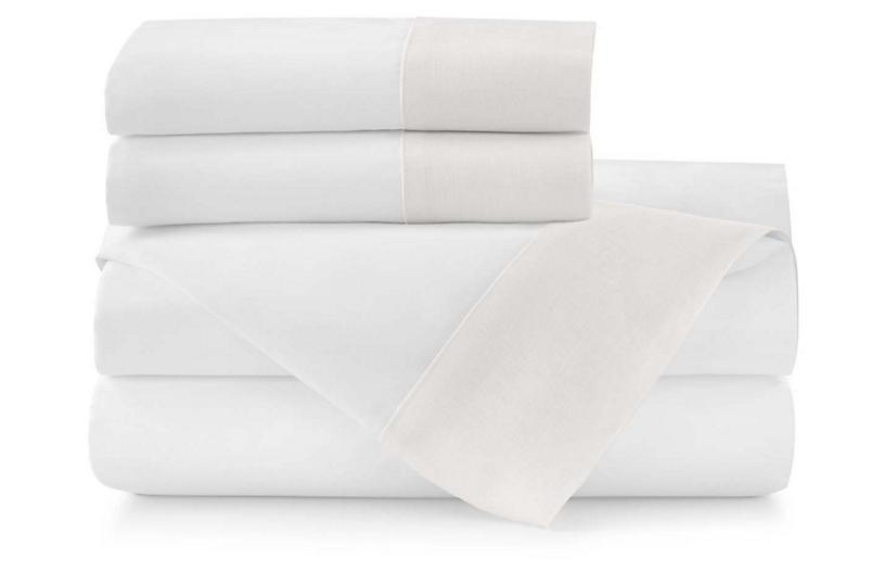 Mandalay Cuff Sheet Set, Pearl
