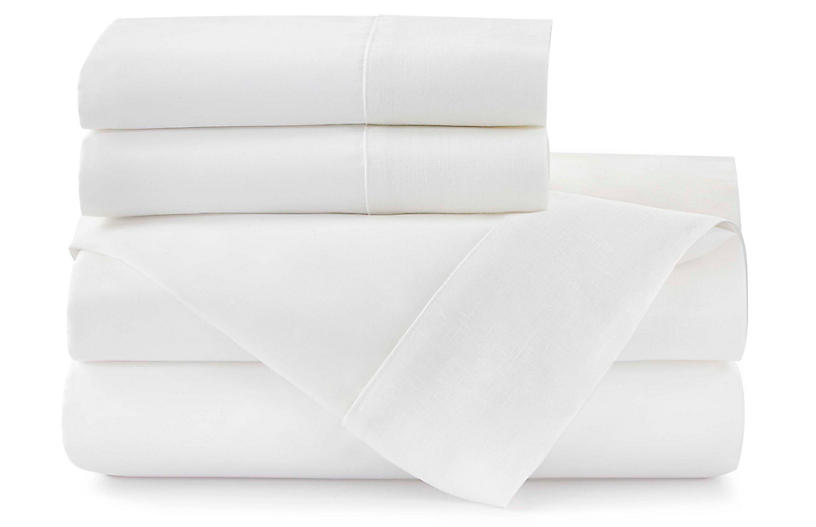 Mandalay Cuff Sheet Set, White
