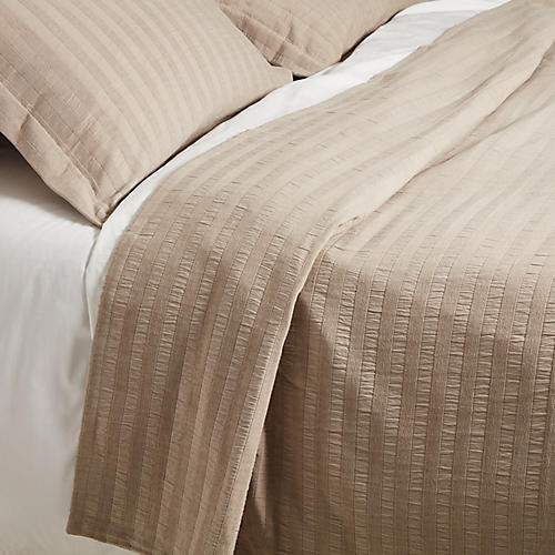Cambridge Coverlet Set, Platinum