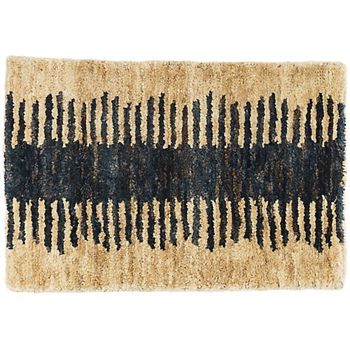 Fez Jute Rug, Natural/Deep Ink