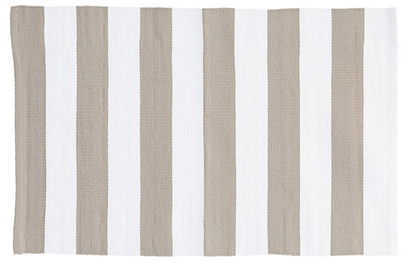 Catamaran Indoor/Outdoor Rug, Platinum