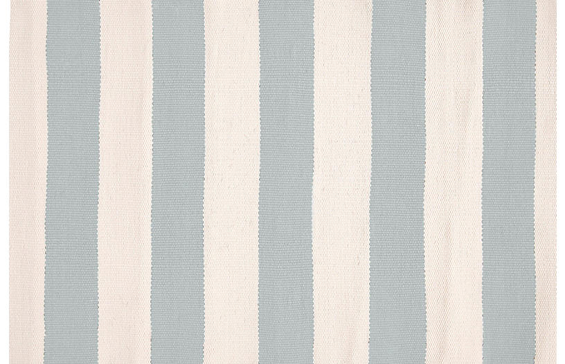 Catamaran Indoor/Outdoor Rug, Light Blue/Ivory