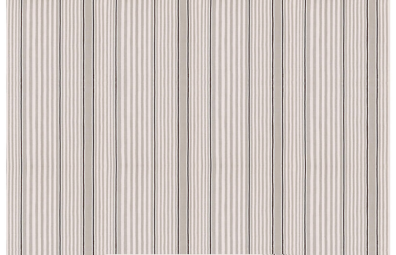Rugby Stripe Indoor/Outdoor Rug, Platinum