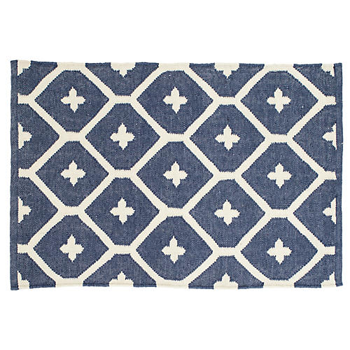 Elizabeth Indoor/Outdoor Rug, Navy