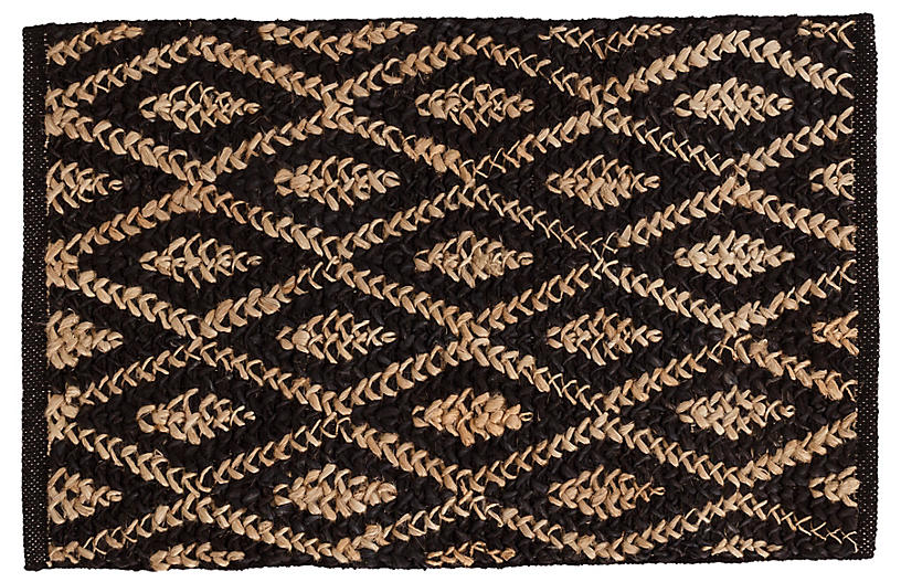 DASH & ALBERT - Diamond Jute Rug, Black