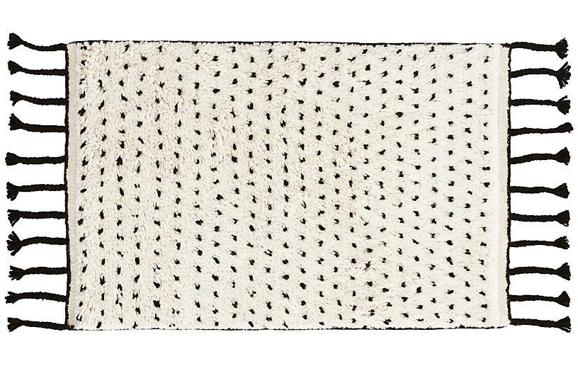 Speck Hand-Knotted Rug, Black/Natural