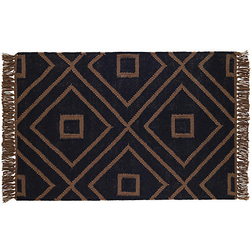 Mali Indoor/Outdoor Rug, Black