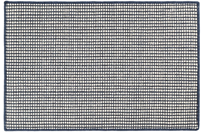 Pixel Sisal Rug, Indigo