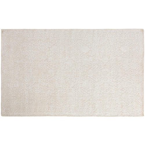 Arabesque Handwoven Rug, Ivory