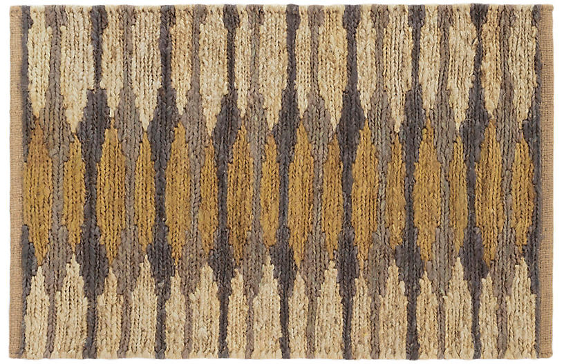 Snapdragon Jute Rug, Natural/Oak