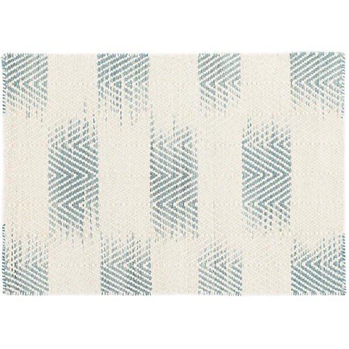Tansy Handwoven Rug, Blue