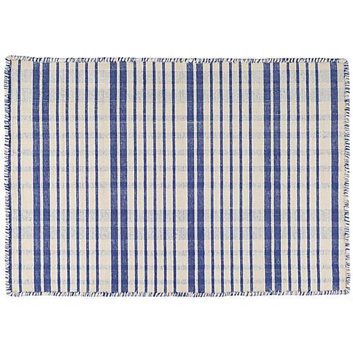 Guilford Handwoven Rug, Cobalt