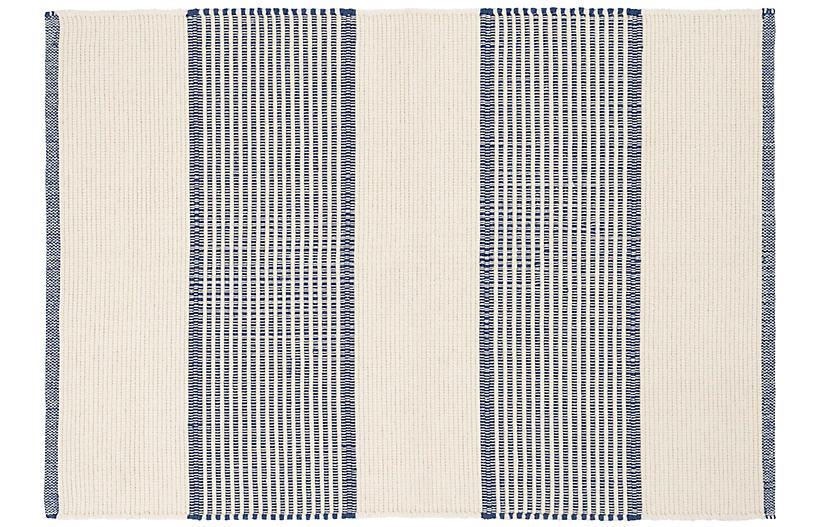 La Mirada Handwoven Rug, Navy