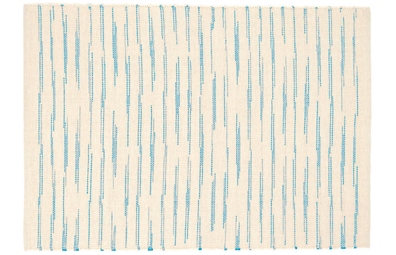 Solana Handwoven Rug, Asiatic Blue