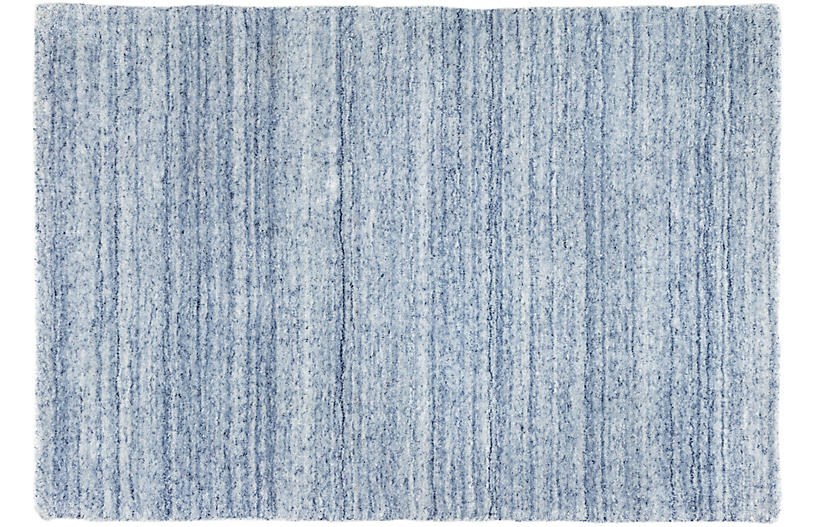 Nordic Hand-Knotted Rug, Blue