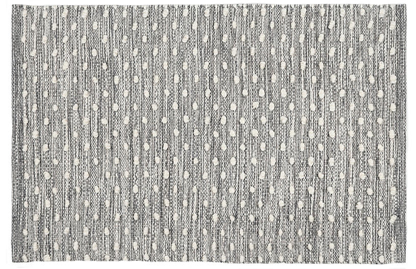 Hobnail Indoor/Outdoor Rug, Gray