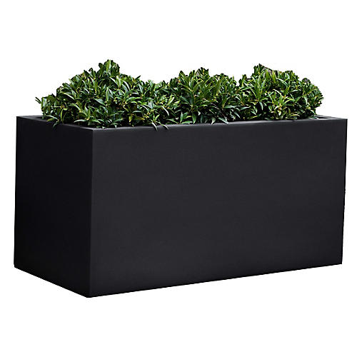"28"" Sandal Outdoor Planter, Black Onyx"