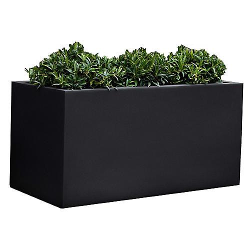 "28"" Sandal Outdoor Planter, Black Onyx"