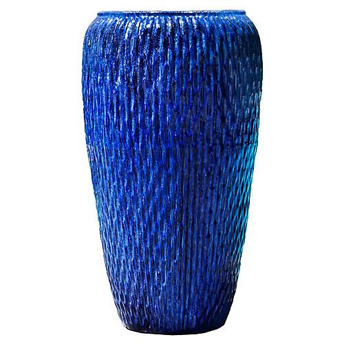 "36"" Talavera Outdoor Planter, Riviera Blue"