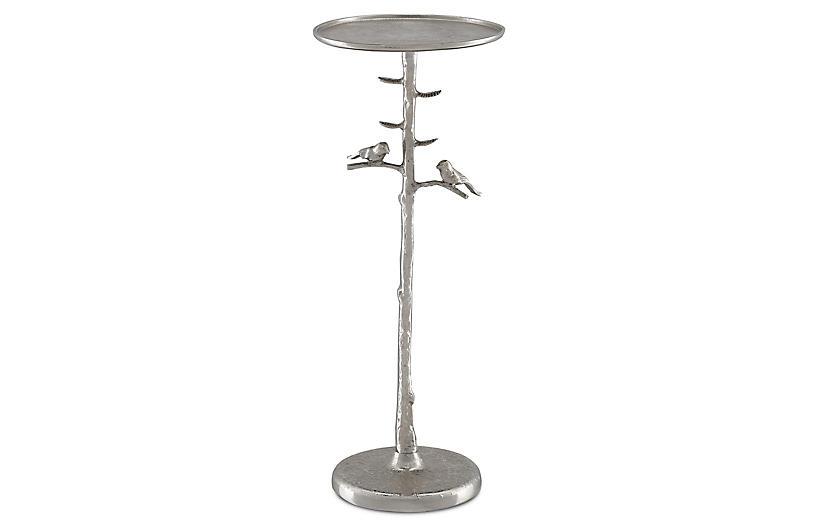 Piaf Drinks Table, Polished Nickel