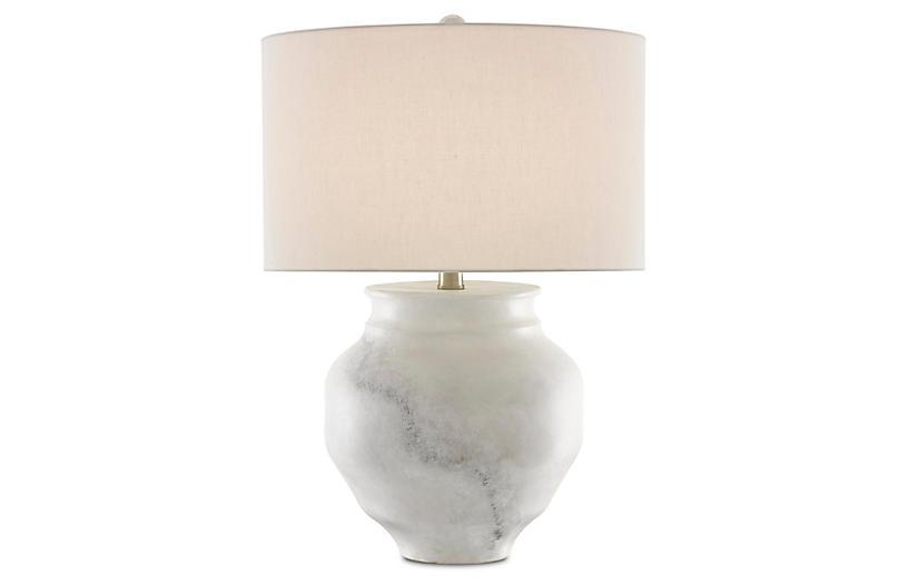 Kalossi Table Lamp, White/Gray