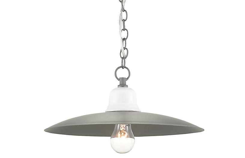 Eastleigh Pendant, Gray/White