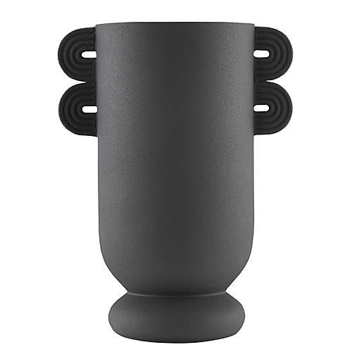 Straight Straight Happy 40 Vase, Black
